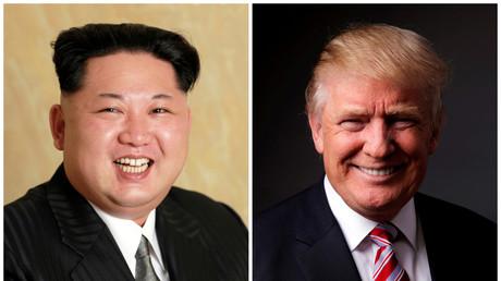 Ein Bild von Kim Jong-un (10. Mai 2016) neben Donald Trump (17. Mai 2016).