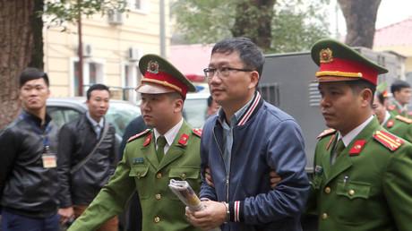 Trinh Xuan Thanh wird dem Gericht in Hanoi vorgeführt, Vietnam, 8. Januar 2018.