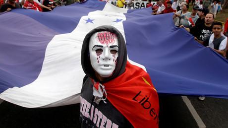 Unterstützer des Oppositionskandidaten Salvador Nasralla während einer Demonstration in San Pedro Sula.