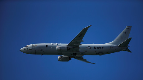 Eine Boeing des Typs P-8 Poseidon der US-Navy.