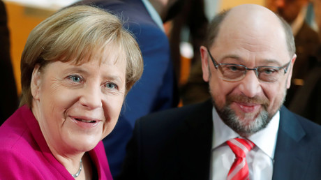 Angela Merkel, Martin Schulz, Berlin, Deutschland, 7. Januar 2018.
