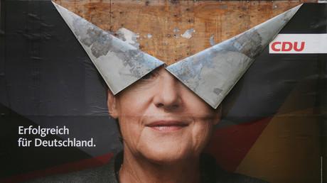 Wahlplakat der CDU, Bonn, Deutschland, 30. September 2017.