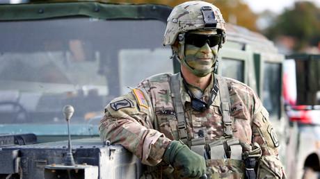US-Militärangehöriger bei weltweitern US-Militärübung