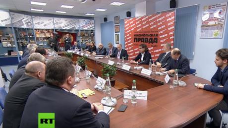 Russlands Präsident Wladimir Putin traf sich diese Woche mit Vertretern großer russischer Medienhäuser in Moskau.