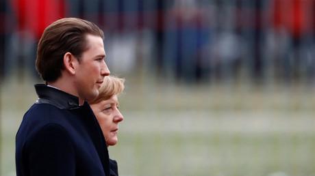Sebastian Kurz, Angela Merkel, Berlin, Deutschland, 17. Januar 2018.