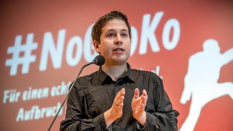 Vor allem die Jusos wehren sich gegen eine Neuauflage der Großen Koalition. Im Bild: Kevin Kühnert, Juso-Vorsitzender.