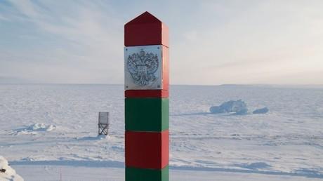 Russischer Grenzpfahl im weiten Norden (Symbolbild)