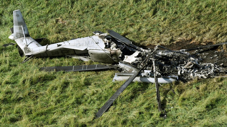 Abgestürzter amerikanischer Transporthelikopter CH-53E Okinawa, Japan, 12 Oktober 2017.