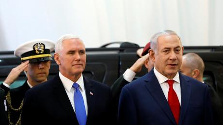 Mike Pence neben Netanjahu, Jerusalem, Israel, 22. Januar 2018.