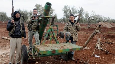 Mit der Türkei verbündete FSA-Kämpfer.