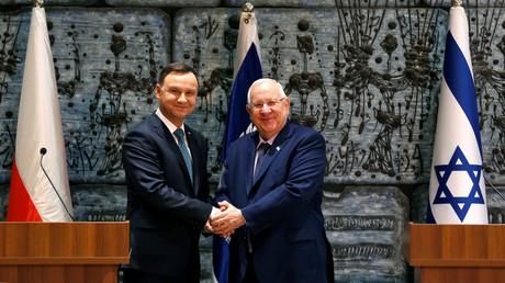 Der polnische Präsident Andrzej Duda und sein israelischer Amtskollege Reuven Rivlin. (Jerusalem, 17. Januar 2017, Quelle: Reuters)