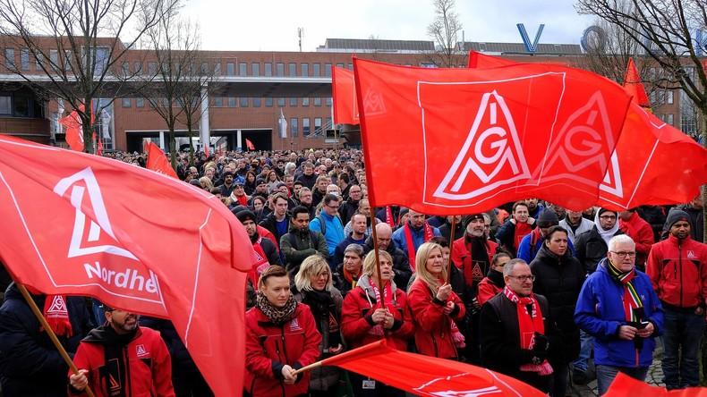 300.000 Arbeiter streiken: IG Metall demonstriert Stärke