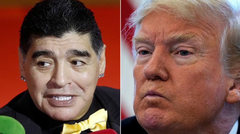"""Fußballikone Maradona darf nicht in die USA einreisen – weil er Trump """"Marionette"""" nannte"""
