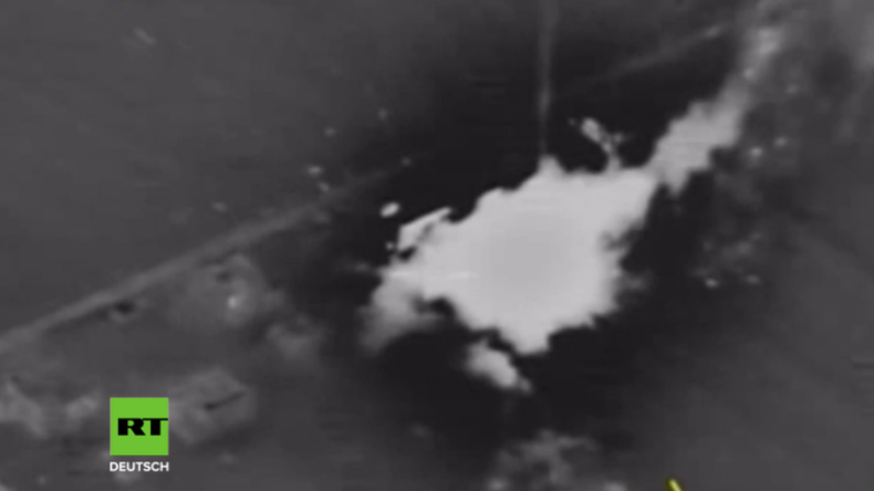Russland bombardiert Terroristen, die russischen Jet in Syrien abgeschossen haben