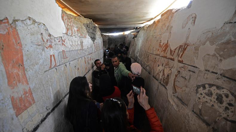 Über 4.000 Jahre altes Grab bei Pyramiden in Ägypten gefunden
