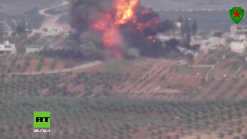 Video aus Afrin: Jagen Kurdinnen hier einen türkischen Panzer aus deutscher Produktion in die Luft?