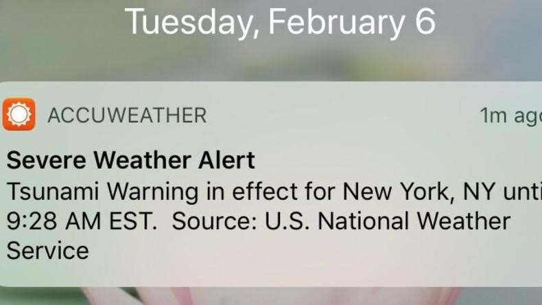 Wetter-App warnt US-Ostküste aus Versehen vor Tsunami