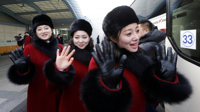 Nach Nukleartest-Feierorchester treffen auch Nordkoreas Cheerleader in Pyeongchang ein
