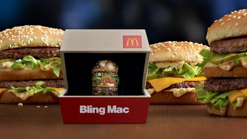 McDonald's bietet Kunden goldenen Big Mac mit Diamanten an