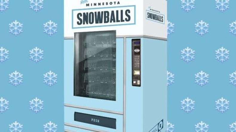 Von Einwohnern Minnesotas geformt und gepackt: Schneeballautomat in Minneapolis installiert