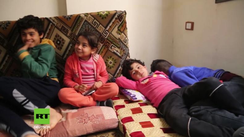Afrin: Vor türkischen Bombardements geflüchtete Christen finden Unterschlupf in Kirche