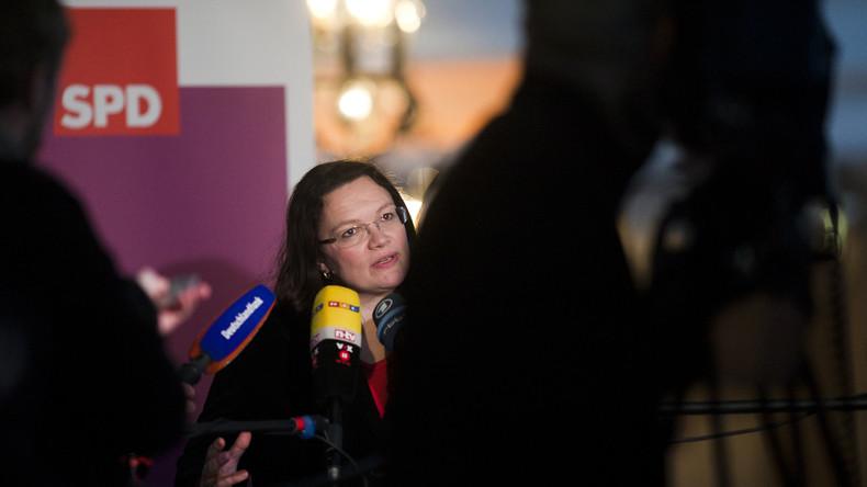"""Andrea Nahles wird zum Darling der Mainstream-Presse: """"Letzte Rettung"""" und  """"Letzte Hoffnung"""""""