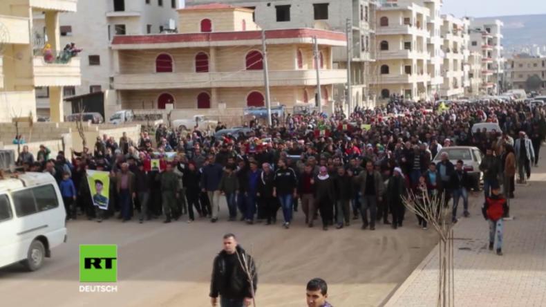 Türkische Militäroperation in Syrien - Afrin trägt 21 Leichen zu Grabe
