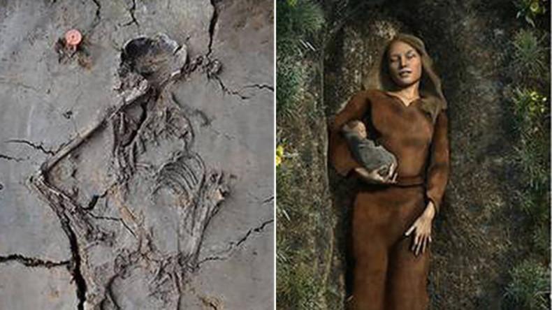 Archäologen entdecken 6.000 Jahre altes Grab einer Mutter mit Säugling im Arm in Holland