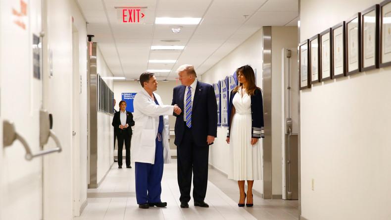 Donald Trump besucht Überlebende und Rettungskräfte nach Schulmassaker von Parkland