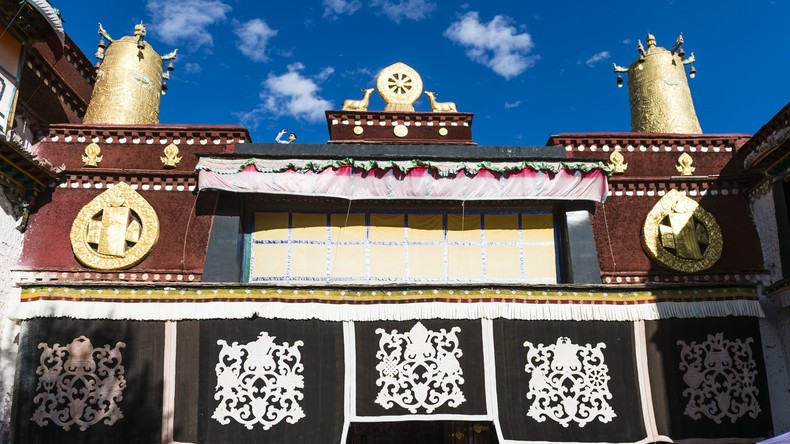 Brand in 1300 Jahre altem Kloster Jokhang in Tibet