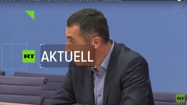 MSC: Polizeischutz für Cem Özdemir bei Münchner Sicherheitskonferenz (Video)