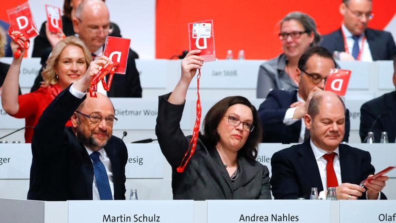 """Mitgliederabstimmungen bei der SPD - Nahles schwört auf """"Hochleistungsschlitzmaschinen"""""""