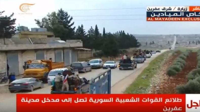 Live aus Afrin: Einmarsch regierungstreuer Miliz und türkischer Beschuss