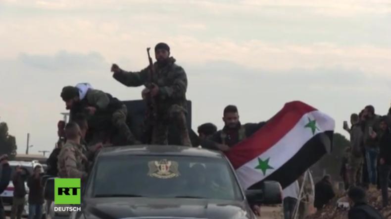 Syrische Truppen erreichen Afrin - Türkei bombardiert und will Konvoi zurückgedrängt haben