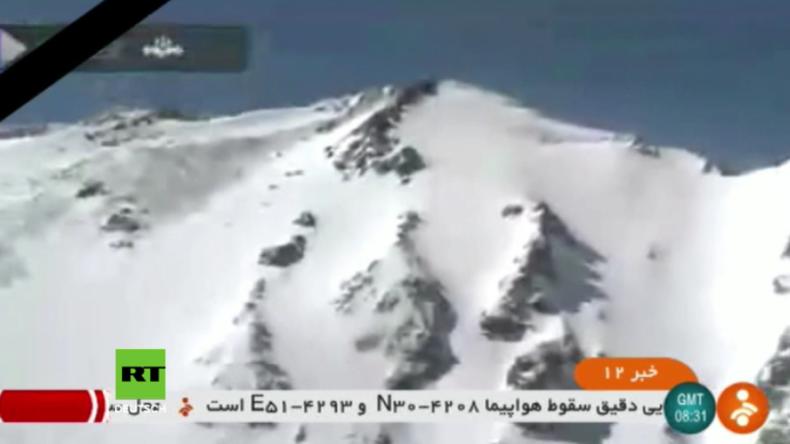 Iran: Abgestürztes Flugzeug mit 65 Menschen an Bord Tage nach dem Absturz aufgefunden