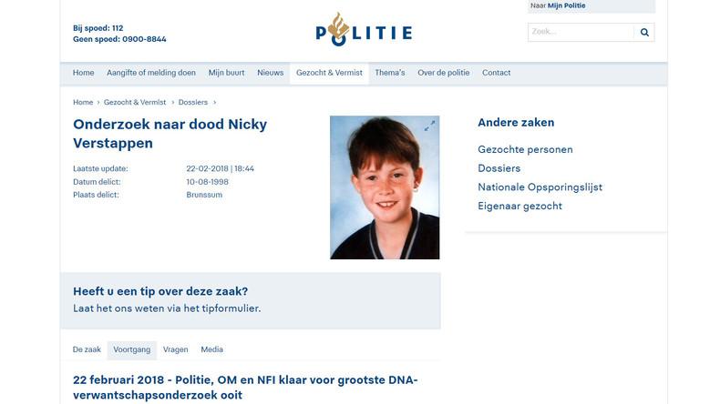 20 Jahre nach Kindermord: Niederländische Polizei startet Massen-DNA-Test unter Männern