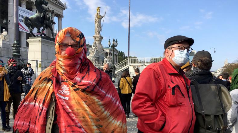 Verhüllen wegen eisiger Temperaturen in Österreich erlaubt