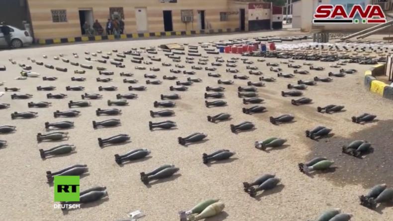 Syrien: Armee will in IS-Beständen massenweise Waffen aus dem Westen und aus Israel gefunden haben