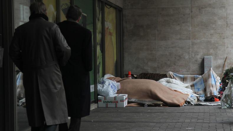 """Extreme Kälte in Europa: Brüsseler Polizei soll Obdachlose über Nacht """"zu ihrem Schutz"""" festnehmen"""