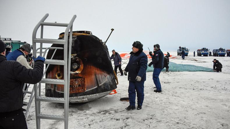 Nach mehr als fünf Monaten im Einsatz: Drei ISS-Raumfahrer sicher zur Erde zurückgekehrt