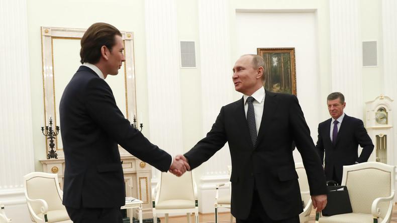 LIVE:  Wladimir Putin empfängt neuen österreichischen Bundeskanzler Sebastian Kurz