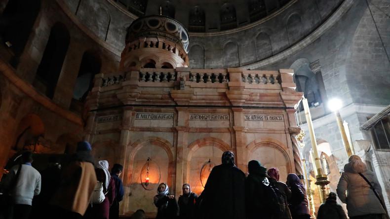 Grabeskirche in Jerusalem nach Schließung aus Protest wieder offen