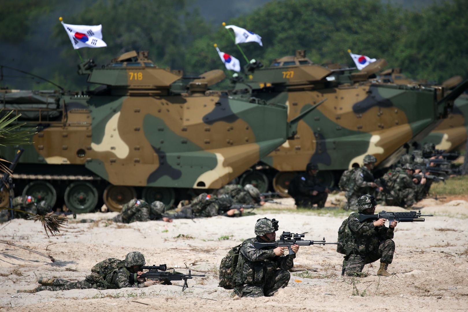 """Südkoreanische Militärs beim """"Cobra Gold 2018"""" Manöver in der thailändischen Chonburi Provinz, 19. Februar 2018."""