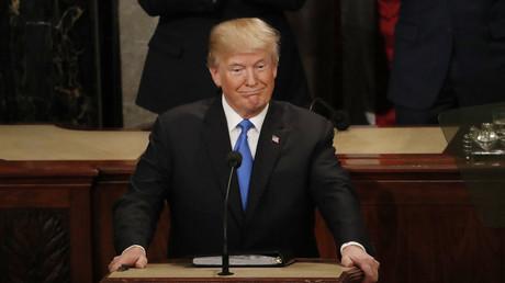 US-Präsident Donald Trump während seiner Rede zur Lage der Nation im US-Kongress auf dem Capitol Hill in Washington.
