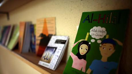 Bücher über den Islam; Moschee in Reinickendorf, Berlin, Deutschland