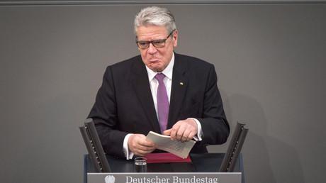 Noch-Bundespräsident Joachim Gauck bei seiner Rede zum Amtsabtritt im März 2017