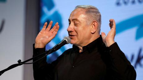 Benjamin Netanjahu in Netivot, Israel, 6. Februar 2018.