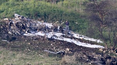 Israelischer Kampfflugzeug F-16 durch syrische Flugabwehr abgeschossen