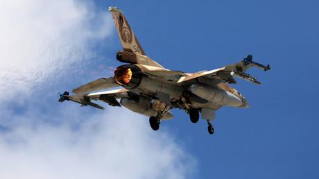 Israelischer Kampfjet F16.