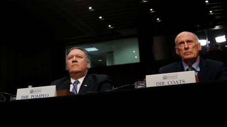 CIA-Chef Mike Pompeo und DNI-Chef Dan Coats sagten am Dienstag vor dem US-Senat aus.